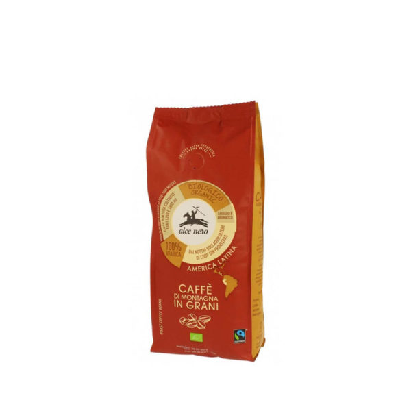 alce nero kawa 100% arabica ziarnista fair trade bio 500 g